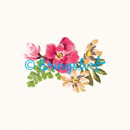 watercolor flowers svg
