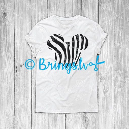 mickey zebra svg - Mickey Zebra SVG DXF