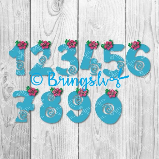 moana numbers svg - Moana Numbers SVG PNG DXF Cut Files