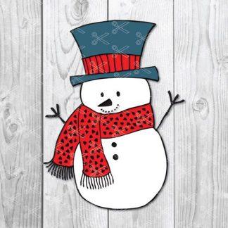 snowman face svg free