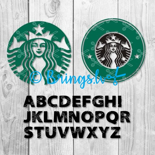 Starbucks Svg Starbucks Letters Svg