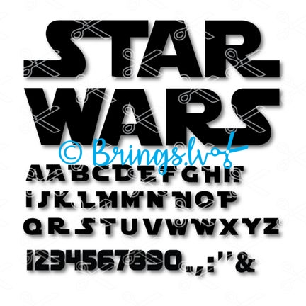 Star Wars Alphabet Svg Archives | INSTANT DOWNLOAD