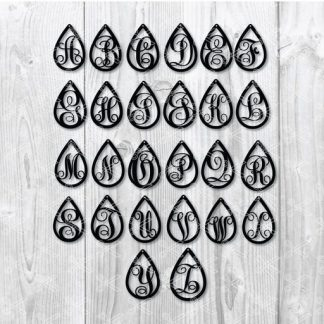 teardrop earring template svg