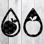 Apple Earring Svg diy craft