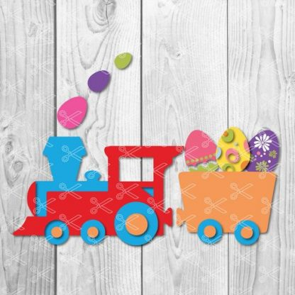 Easter cute Train Svg
