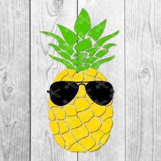 Pineapple Sunglasses SVG