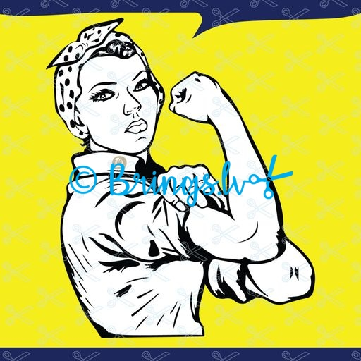 Rosie the Riveter svg file