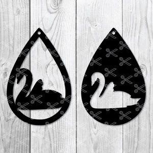 Swan Earrings Svg