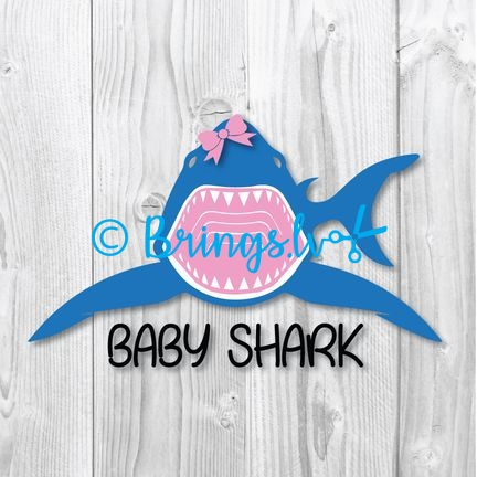 Baby Shark Svg Png Dxf Cut Files