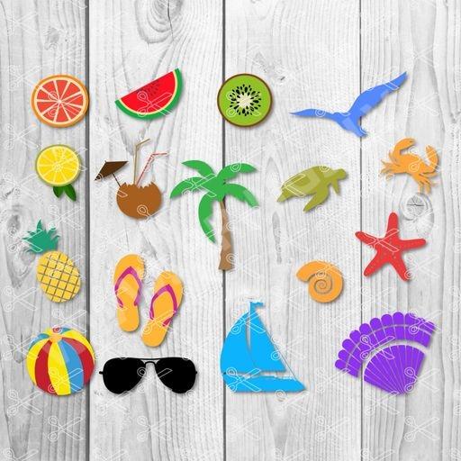 summer svg - Sea Shells SVG DXF Bundle - Summer SVG
