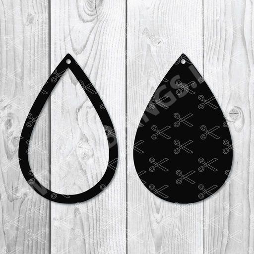 692153593 Tear Drop Earrings SVG DXF PNG Cut Files