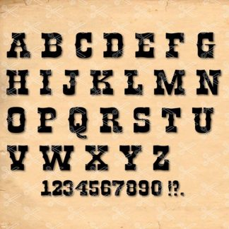 western svg font