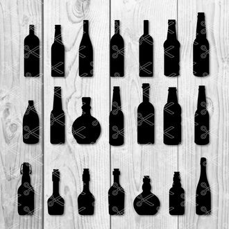 Wine Bottle Vector Cut File Archives | INSTANT DOWNLOAD