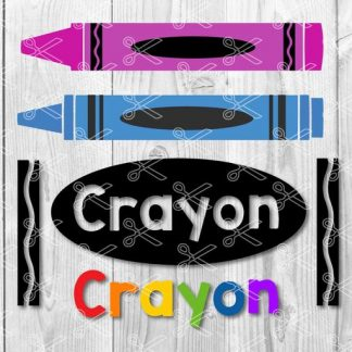Crayon svg file