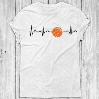 Basketball Heartbeat SVG