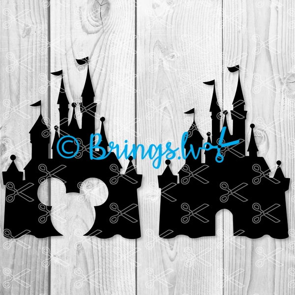 Disney castle svg