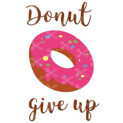 Donut give up SVG Cut file