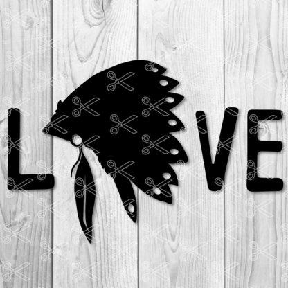 Love Indians SVG File