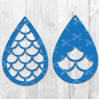 Mermaid Teardrop Earring Svg