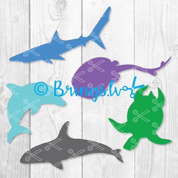 Ocean Life Clipart Sea Animals SVG