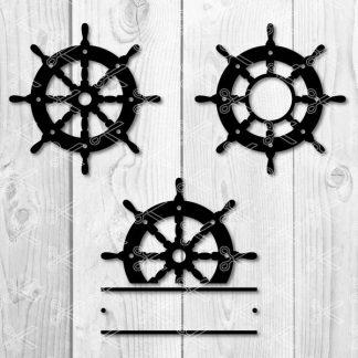 Ship wheel svg