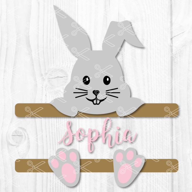 Easter Split Monogram Svg