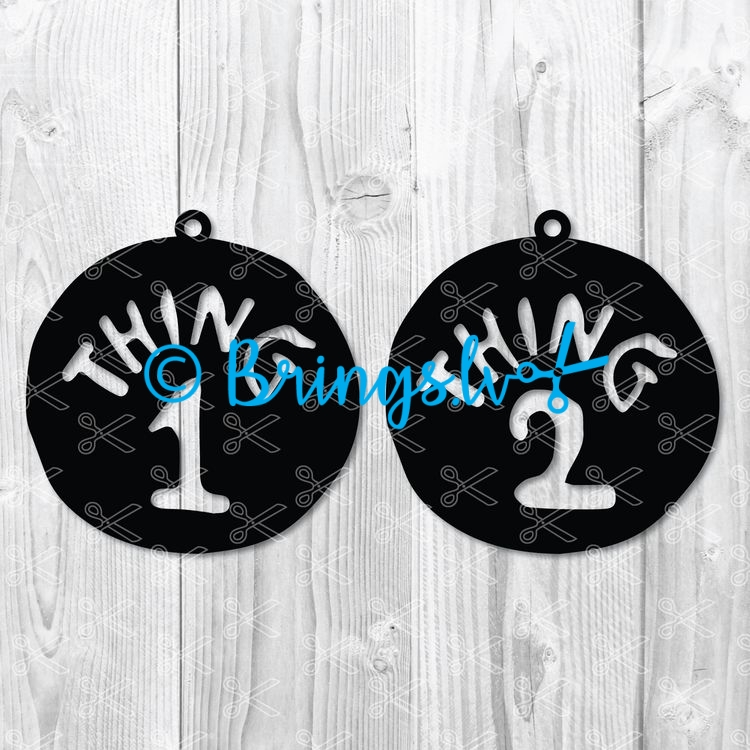 Thing One Pendant SVG