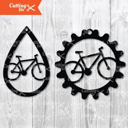 Bicycle Earring SVG