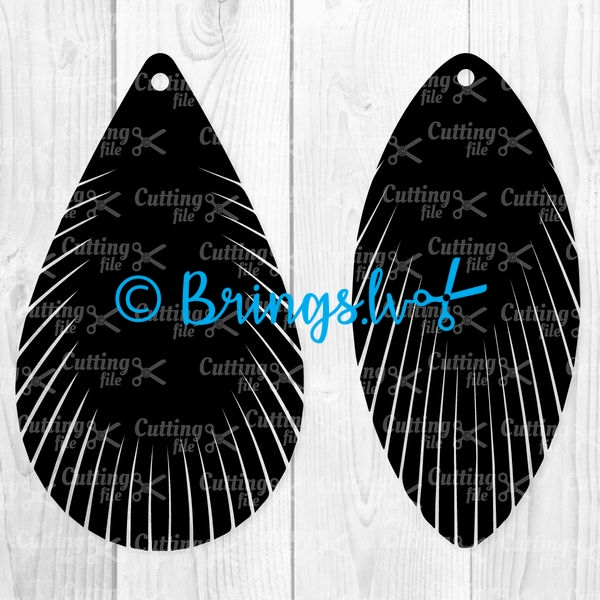 Feather Fringe Earring SVG Cut Files
