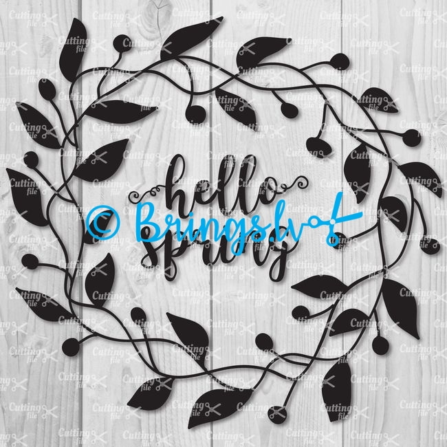 Hello Spring SVG Cut File