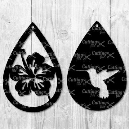 Hummingbird Teardrop SVG - Hibiskus Teardrop SVG