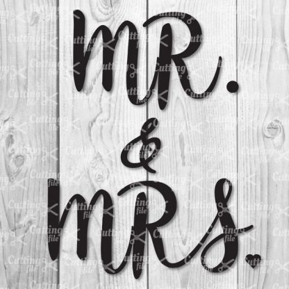 MR AND MRS SVG