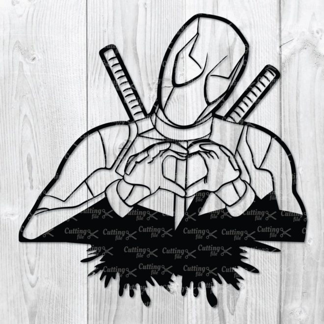 deadpool svg cut file cricut file