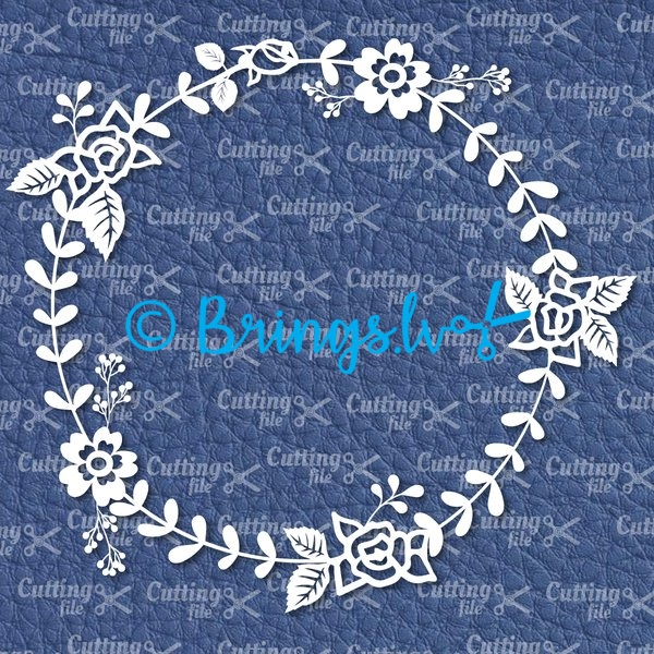 flower floral wreath svg - Floral Wreath SVG DXF PNG Cut Files