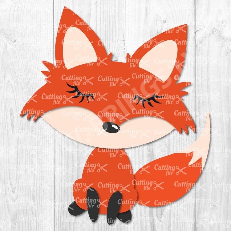 cute fox svg cut file