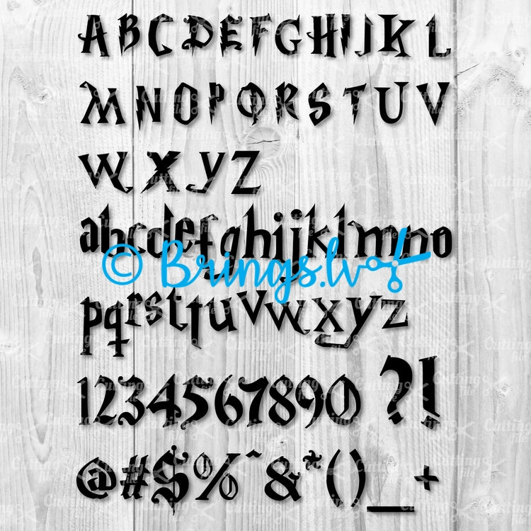 harry potter font free svg