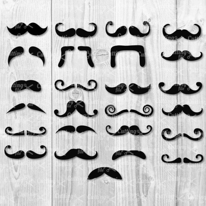 moustache svg cut file