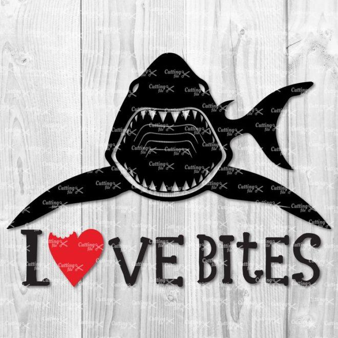shark svg cut file
