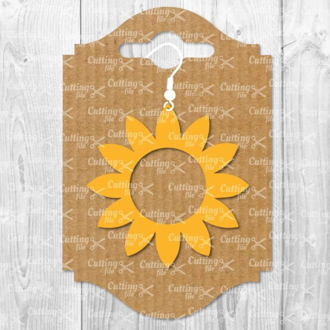 sunflower earring template svg