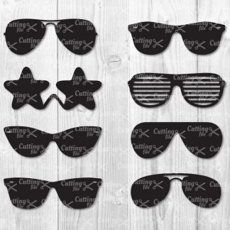 sunglasses svg cut file