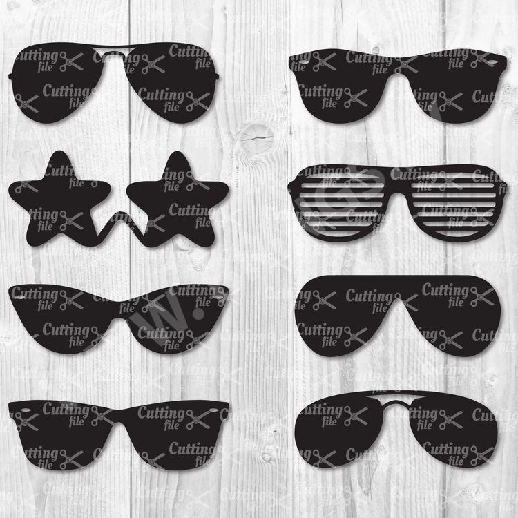 sunglasses svg cut file