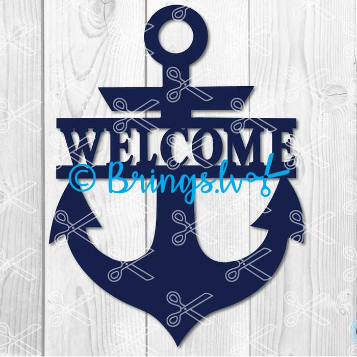 Anchor Welcome Sign SVG