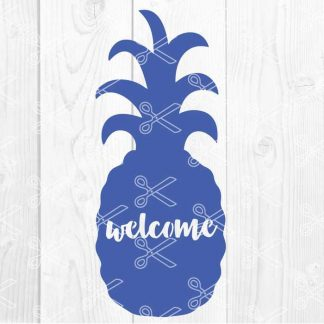 Pineapple Welcome Sign SVG