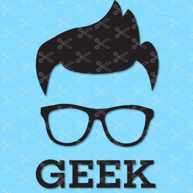 Geek Nerd SVG DXF PNG Cut File