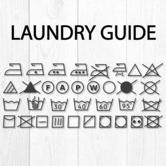 laundry symbols svg