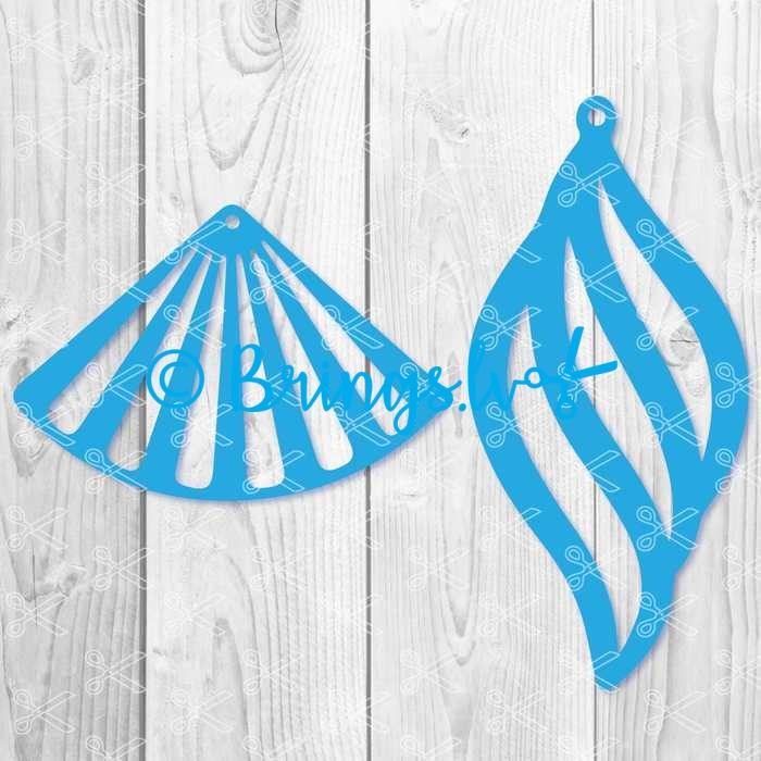 shell earring svg cut file