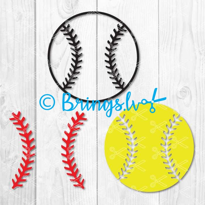 softball svg cut ile