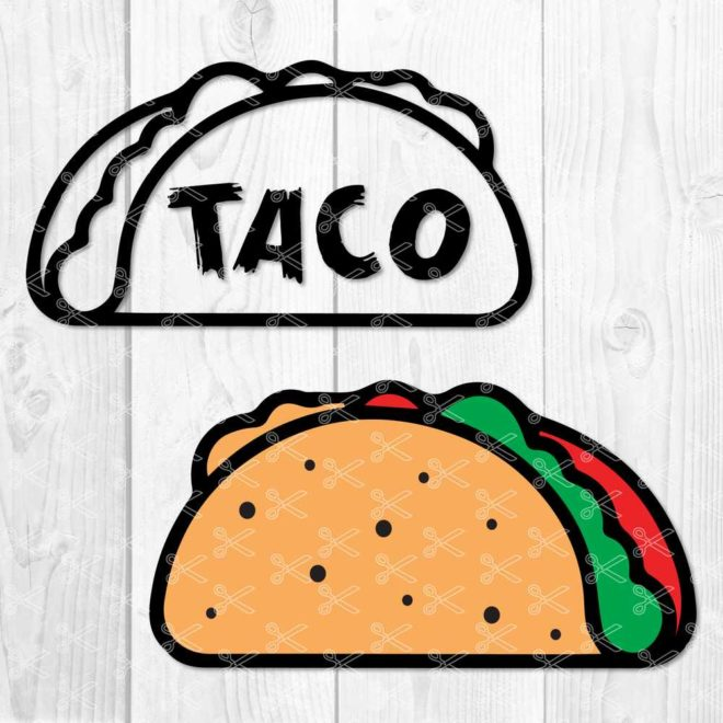 Taco SVG Cut File