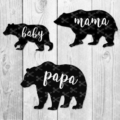 BEAR FAMILY BUNDLE SET SVG