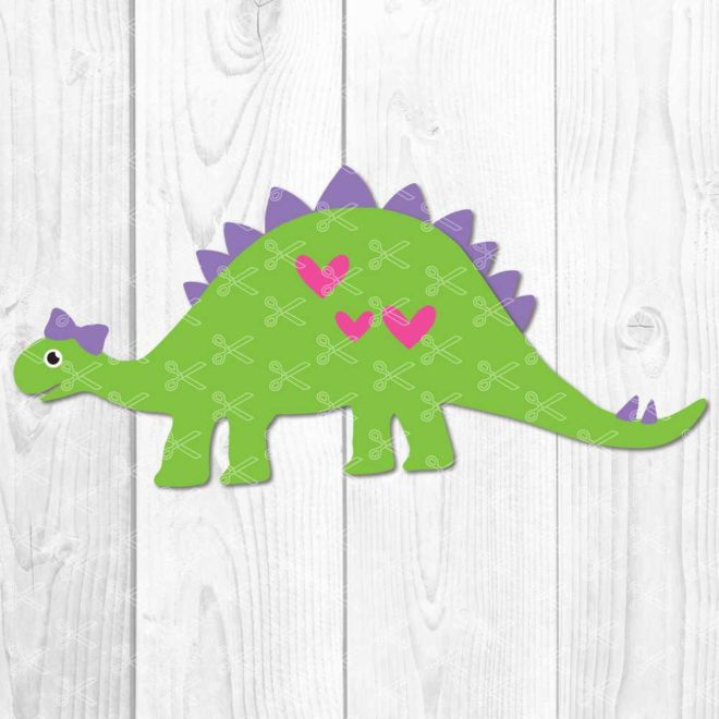 Girl Dinosaur SVG